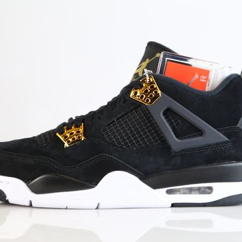 BC DCCK3 Nike Air Jordan Retro 4 Royalty Black Metallic Gold 308497-032 2017 Adult and GS 3.5y-15
