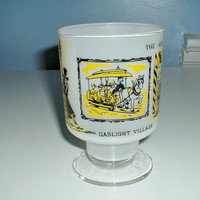 Vintage Gaslight Village  Glass Lake George New York Souvenir 1960s