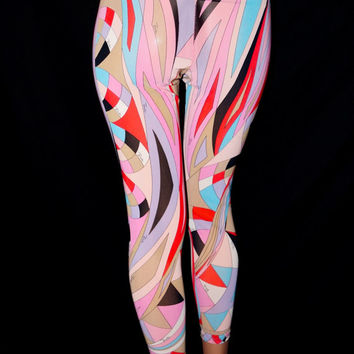 60s Pucci Psychedelic Geometric Spandex Pants Leggings