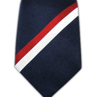 Ad Stripe - Navy/Red (Skinny) from TheTieBar.com - Wear Your Good Tie Everyday