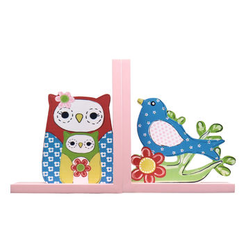 Set of 2 Decorative Children's Wood Bookends