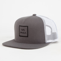 Rvca Va All The Way Mens Trucker Hat Black/Grey One Size For Men 26632012701