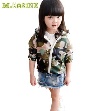 Unisex Baby Outerwear Camouflage Summer Children's Clothing Kids Clothes Sun Protection Hooded Coat Amry Green Boy Casual Jacket