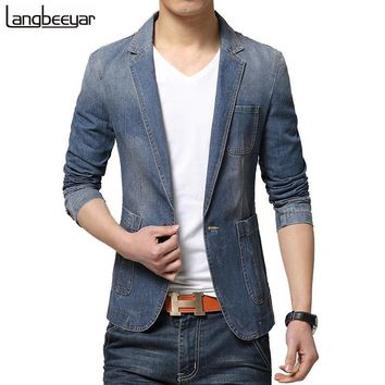 Men's Blazers Spring Casual Suit jacket Slim Fit jacket suite