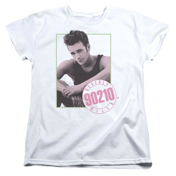 90210 Womens T-Shirt Dylan White Tee