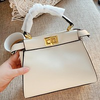 FENDI High Quality Women Leather Handbag Tote Shoulder Bag Crossbody Satchel