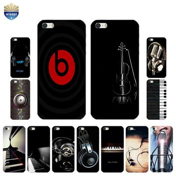 For iPhone SE Phone Case For iPhone 5G 5S Back Cover 4.0 Inch For iPhone 5C Shell TPU Bumper Design Musical Instruments Painted