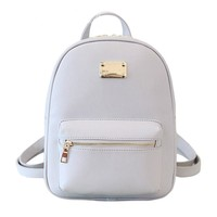 Small White Leather Backpacks, Women's