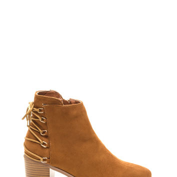 Ring Leader Lace-Up Chunky Booties GoJane.com