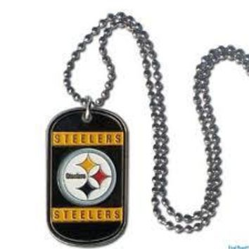 Pittsburgh Steelers Necklace Tag Style