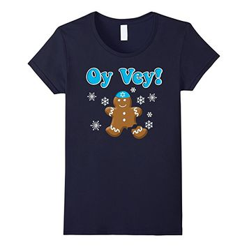 Oy Vey Hanukkah Gingerbread Cookie Funny T-Shirt
