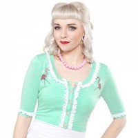 SOURPUSS PINK FLAMINGO BELLA CARDIGAN