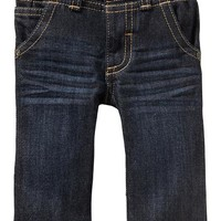 Elasticized-Waist Jeans for Baby