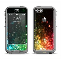 The Neon Glowing Grunge Drops Apple iPhone 5c LifeProof Nuud Case Skin Set