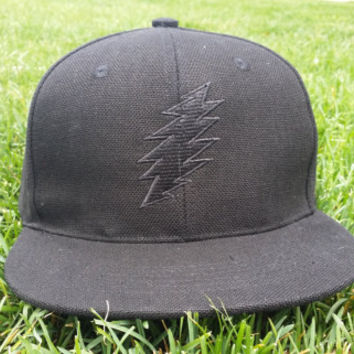 Black Hemp / Black Bolt Snapback Hat