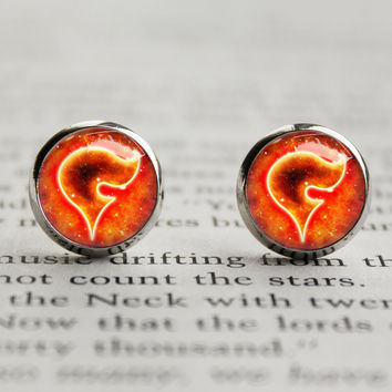 Pkmn earrings Team Flare symbol