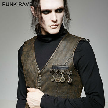 PUNK RAVE MILITARY UNIFORM MEDAL STREAMPUNK GOTHIC BROOCHES BADGE BROOCH PIN