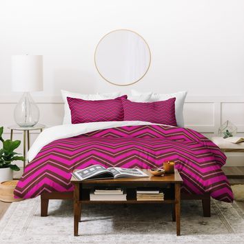 Caroline Okun Chocolate Chevron Duvet Cover