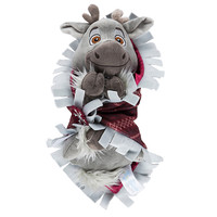 "disney parks frozen 10"" baby sven plush toy with blanket new with tags"
