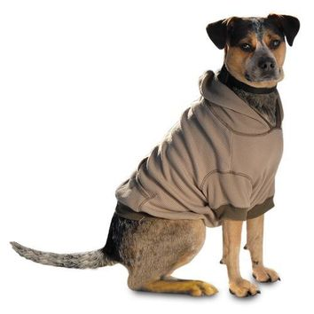 On-the-Go Thermal Dog Hoodie - Taupe