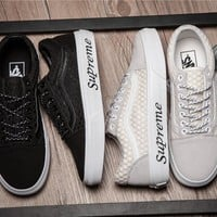Vans x Supreme CHROME HEARTS Running Shoes 35-44