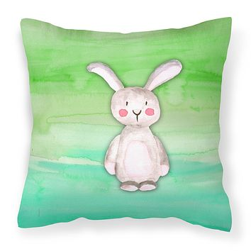 Bunny Rabbit Watercolor Fabric Decorative Pillow BB7437PW1818