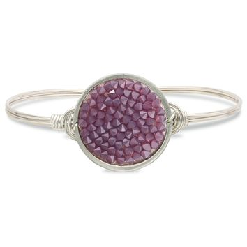 Druzy Bangle Bracelet In Amethyst