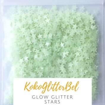 Glow in the Dark Glitter- Stars