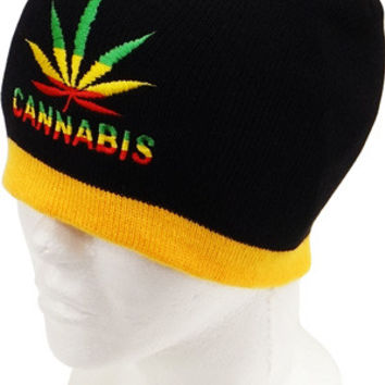 * Marihuana Logo Beanie In Black