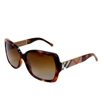 Burberry Women's BE4160 3316T5 Square Gradient Polarized Sunglasses | Overstock.com Shopping - The Best Deals on Designer Sunglasses