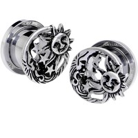 "1/2"" Cosmic Sun and Moon Screw Fit Tunnel Plug Set"