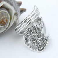 Silver Spoon Ring   Orange Blossom 1910 by CaliforniaSpoonRings