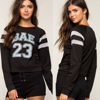 Lace Patchwork Winter Print Hoodies [9307397572]
