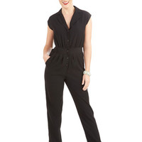 ModCloth Vintage Inspired Long Cap Sleeves Caught Your Eye Jumpsuit