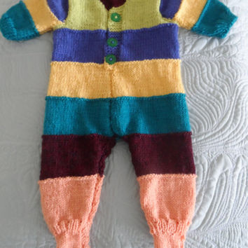 Onesuit - Hand Knitted Baby Onesuit - Handmade Wool  Baby Knit - New Born Baby - Knitted Baby All in one - Woolen Baby Top