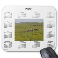 2016 Horse Calendar by Janz Mouse Pad