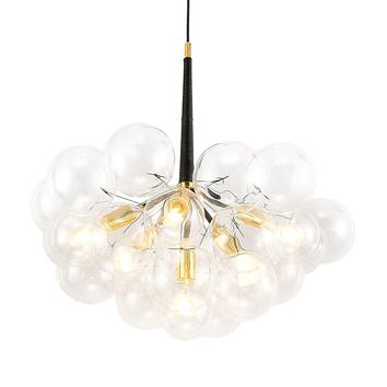 American Pelle Bubbles Glass E27 Led Chandelier