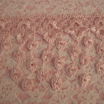 Lace Fringe Trim,Pink,Victorian Style Lace ,Venise Lace Trim,Bridal Accessories,Altered art,Scrapbooking,Doll Apparel,Decorative Lace Trim