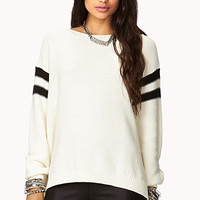 Sporty Varsity Striped Sweater