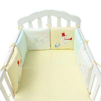 6Pcs/12Pcs Baby Bed Bumper Set Baby Bed Crib Safety Protector Bumper Newborn Infant Bed Bumper in the Crib Toddler Bedding Set