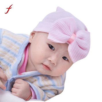 1Pc Newborn Baby Toddler Girls Bow Flower Soft Hospital Cap Newborn Cute Hat Bow Baby Girl Hospital Hat Beanie With Bow