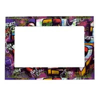 Colorful Graffiti Words Magnetic Photo Frame