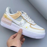 Free shipping: Nike Air Force 1 AF1 Little Daisy Lace Print Decorative Trend Sneakers Shoes