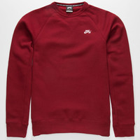 Nike Sb Icon Mens Sweatshirt Red  In Sizes