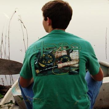 Heybo Fly Fishing Tee- Green
