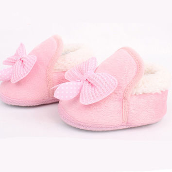 Butterfly-knot Lovely Soft Crib Shoes