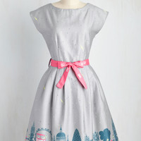 What's Done Cannot Be London Dress in Showers | Mod Retro Vintage Dresses | ModCloth.com