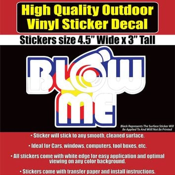 Colorado Flag Blow Me Vinyl Car Window Laptop Bumper Sticker Decal
