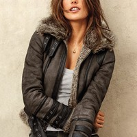 Faux-shearling Aviator Jacket - Victoria's Secret