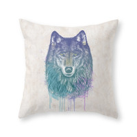Society6 I Dream Of Wolf Throw Pillow